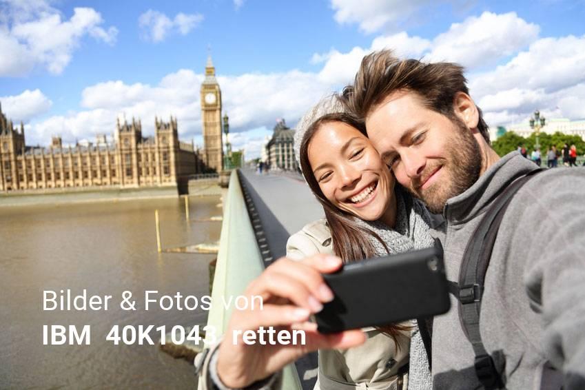 Datenrettung gelöschter Foto & Bilddateien von IBM  40K1043