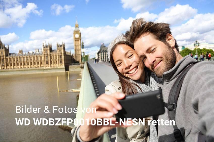 Datenrettung gelöschter Foto & Bilddateien von WD WDBZFP0010BBL-NESN