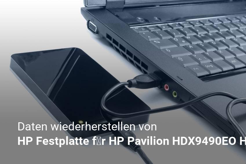 Gelöschte Dateien von HP Festplatte für HP Pavilion HDX9490EO HDX9490EZ HDX9494NR HDX9575LA günstig wiederherstellen