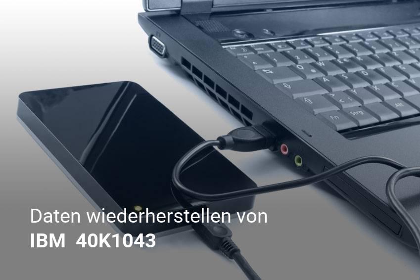 Gelöschte Dateien von IBM  40K1043  günstig wiederherstellen