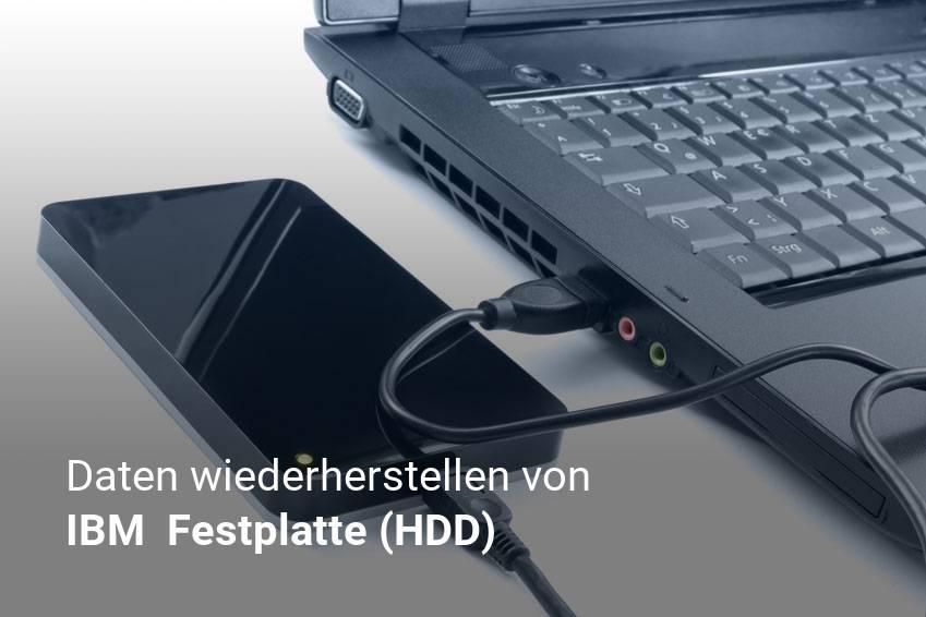Gelöschte Dateien von IBM  Festplatte (HDD) günstig wiederherstellen