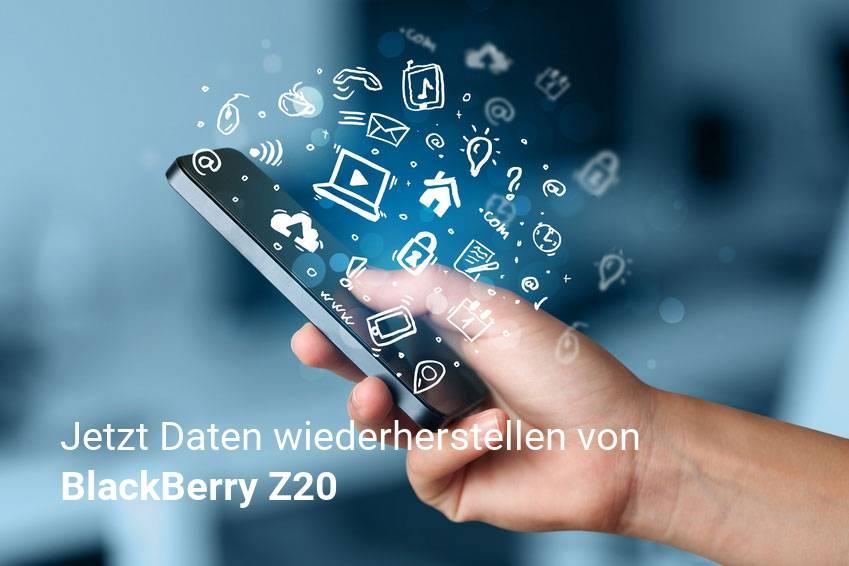 Gelöschte BlackBerry Z20 Dateien retten - Fotos, Musikdateien, Videos & Nachrichten